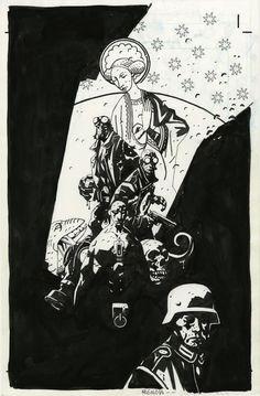 Hellboy: Conqueror Worm TPB Cover by Mike Mignola