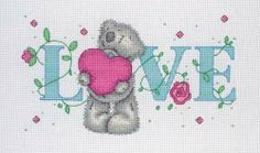 LOVE  Tatty Teddy Cross Stitch kit