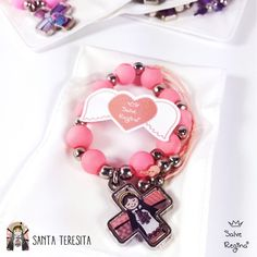 Decenario Souvenir Buenaventura - Salve Regina — Salve Regina Religious Gifts, First Communion, Diy Crafts, Charm Bracelets, Jewelry Ideas, Giveaway, India, Party, Christmas