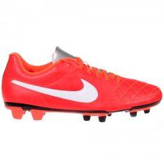 90b427674e2 NIKE Tiempo Rio II FG Football Boot Mens - Bright Crimson   White    Metallic Silver