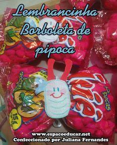 Lembrancinha para o dia das crianças: borboleta feita com pipoca! - ESPAÇO EDUCAR