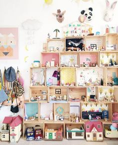 Discover amazing ideas for a cool playroom makeover ranging from small-scale DIY projects that will take an afternoon or two to complete, to full-scale remodeling and ready-to-build kits. Playroom Decor, Kids Decor, Decor Ideas, Playroom Organization, Baby Bedroom, Girls Bedroom, Bedrooms, Barbie Doll House, Little Girl Rooms
