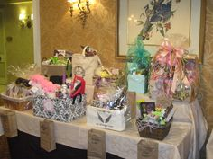 Raffle Baskets With Ticket Bags