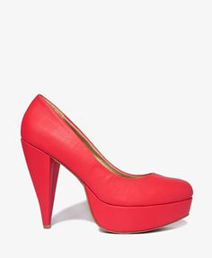 Cone Heel Pumps | FOREVER21 - 2021839672