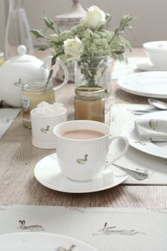 Teacup and Saucer - 'Hare'. racing Hare features on the front and back of this fine bone china teacup. Perfect for a truly indulgent cup of tea or coffee! A lovely country inspired design that would make a great gift for a friend or a treat for yourself! From Sophie Allport