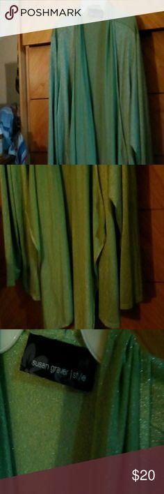 Spotted while shopping on Poshmark: Lime green sparkles cardigan sz. 3x! #poshmark #fashion #shopping #style #Susan Graver Style #Other