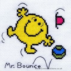 Mr Bounce - Mr Men Cross Stitch Card Kit from Bothy Threads