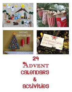 24 fun advent calendars that you can make at home (and you don't have to be really crafty for some of them) plus some great activities for you and your kids to do together this festive season.
