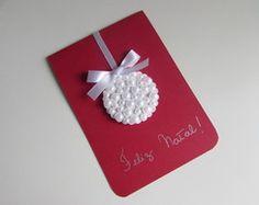 Cartão de Natal - Pérolas