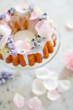 Sugared Elderflower Bundt Cake - Peony Lim