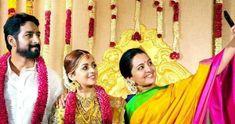 bhavana malayalam actress wedding stills with manju warior www.bazaarkerala.com