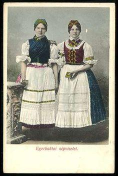 Egerbaktai népviselet | Képeslapok | Hungaricana Folk Costume, Costumes, Hungary, Roots, Traditional, Times, Boho, Painting, Outfits