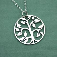 Tree Of Life Necklace , sterling silver, zen necklace, pendant, tree jewelry, handmade. $56.00, via Etsy.