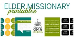 DOWNLOAD Free Elder Missionary Printables