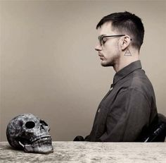 #skull and Shannon Leto is the drummer of rock band Thirty Seconds to Mars.