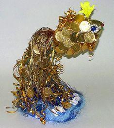 Букет из конфет. Золотая рыбка