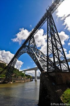 a bridge built by Gustave Eiffel (yes the one who built the Tower in Paris!) in Oporto, Portuguese capital of port wine.