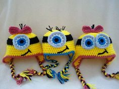 CUSTOM Minion Hat - Baby Toddler Youth Teen Adult Halloween Costume - Handmade by The Hippie Patch
