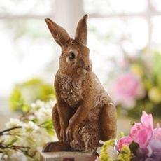 $14.99 Tan Resin Rabbit Statue at Kirkland's