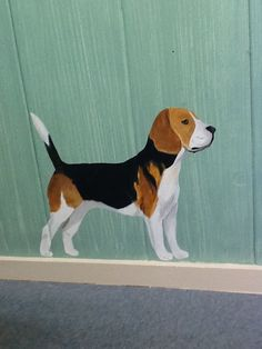 Beagle painted in a grooming room, www.custompaintingbydi.com Diane McCarthy