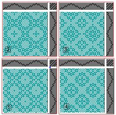 Eva Stossel: Drafts for Lace & Spot Weave Variations - Samples on 8 shafts Weaving Designs, Weaving Projects, Weaving Patterns, Knitting Patterns, Art Projects, Card Weaving, Tablet Weaving, Loom Weaving, Motifs Textiles