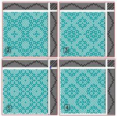 Eva Stossel: Drafts for Lace & Spot Weave Variations - Samples on 8 shafts