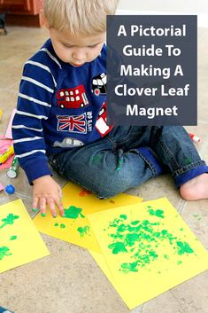 A Pictorial Guide To Making A Clover Leaf Magnet Holiday Crafts, Fun Crafts, Diy And Crafts, Crafts For Kids, How To Make Something, Keepsake Crafts, Four Leaf Clover, Homemade Gifts, Magnets