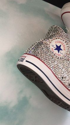Gorgeous sparkly quailty made to last only – Das schönste Make-up Bedazzled Shoes, Bling Shoes, Fancy Shoes, Prom Shoes, Wedding Shoes, Custom Sneakers, Custom Shoes, Sneakers Fashion, Fashion Shoes
