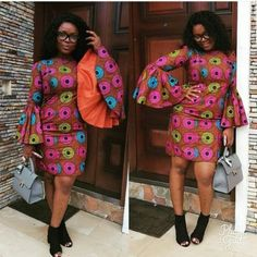 Weekend Special With A Twist: Stylish, Trendy, Fabulous & Unique Ankara Styles - Wedding Digest Naija African Party Dresses, African Dresses For Women, African Women, Prom Dresses, African Beauty, Casual Dresses, Unique Ankara Styles, Ankara Short Gown Styles, Dress Styles