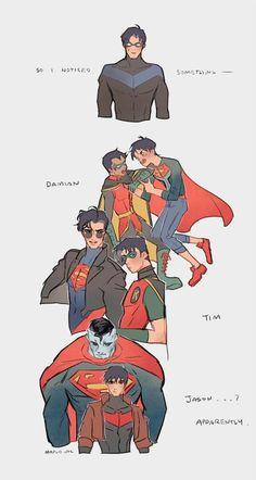He doesnt have a Super pal. He has Wally though! (Although Tim - Batman Funny - Ideas of Batman Funny - Aww poor Dick. He doesnt have a Super pal. He has Wally though! (Although Tim also has Bart) Marvel Dc Comics, Math Comics, Robin Comics, Nightwing, Batgirl, Superman X Batman, Batman Robin, Funny Batman, Batman Arkham