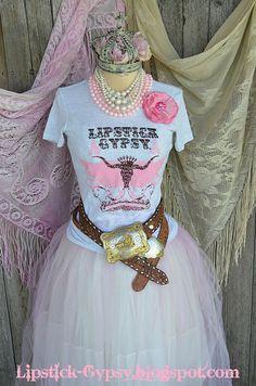 Lipstick Gypsy Signature TShirt S M Cowgirl Boho by LipstickGypsy, $30.00