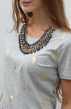 Met een goede statement ketting creëer je een echt fashion look! Leuk bij it-shirts, basic truien of een nette blazer ♥ www.TheMusthaves.nl
