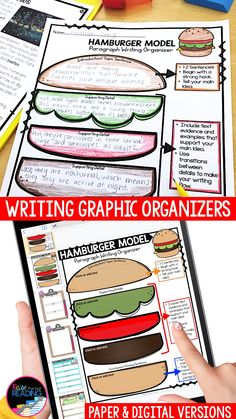 Writing graphic organizers are so helpful in creating strong writers that can use writing strategies effectively in informational writing, narrative writing and more. They break down writing all types of writings, including narrative writing, persuasive writing, OREO opinion writing, how to writing, hamburger paragraph writing, fiction writing, main idea and details, researching a topic. Use in writer's workshop, the prewriting stage of the writing process, and for teaching struggling… Paragraph Writing, Narrative Writing, Opinion Writing, Persuasive Writing, Writing Words, Pre Writing, Writing Process, Teaching Writing, Writing Activities