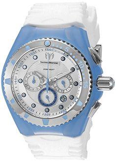 Women's Wrist Watches - Technomarine Womens TM115240 Cruise Angel Fish Analog Display Quartz White Watch -- Click image for more details.