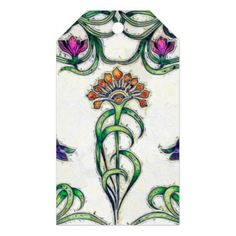 Art Deco Floral Gift Tags