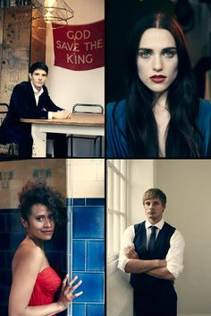 Bradley James Girlfriend Angel Coulby Katie McGrath with her...