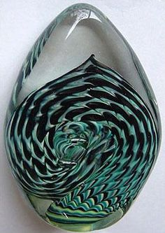 Hand blown glass paperweight