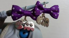 Check out this item in my Etsy shop https://www.etsy.com/au/listing/491037722/pacman-gamer-earrings-with-purple-bows
