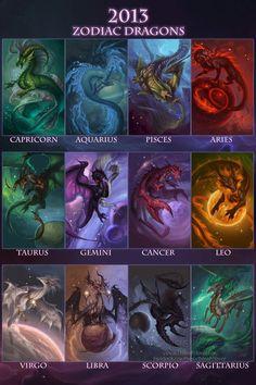 Dragon Art by Sixthleafclover-Calendar Back-2013