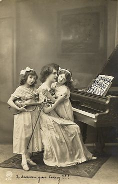 Vintage Lady with Children