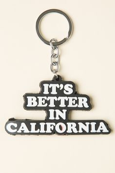 It's Better In California Keychain Brandy Melville Outfits, Brandy Melville Usa, Grown Up Christmas List, California Love, Cute Little Things, Betta, Jewelry Accessories, Typography, Personalized Items