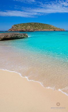 Cala Comte Beach in Ibiza, Spain