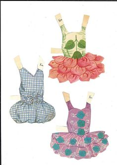 """Little Dancers Doll Dressing Story Book: Ballerina Kim,"" 1950s paper doll book, published by Dean.  Ref No 1200/3"