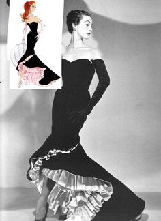 Mary-Jane-Russell-in-Balenciaga-Flamenco-dress-1951