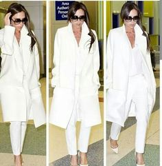 Victoria Beckham in all white Chicago Winter, Victoria Beckham Style, David Beckham, Winter Looks, Gorgeous Women, Closet, Glamour, Stylish, Lady