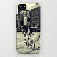 Cyclist over railway iPhone & iPod Case by josemanuelerre - $35.00