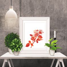 Really neat Red and OrangeWatercolor Roses -  Wall Art Poster - Printable Poster - Digital Download - 300 DPI - 8 x 10 inches - PDF & JPEG 5.00 USD from BrandiLeaDesigns poster download printable poster instant download digital poster printable wall art digital print print download typography poster watercolor poster digital print poster forest animal squirrel tan and white http://ift.tt/1nDIj9U