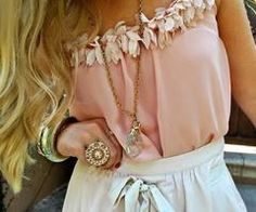 top&skirt/  love the colors
