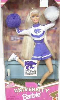 Barbie 1996 Kansas State University Cheerleader by Mattel....I don't need this but that doesn't keep me from wanting it!