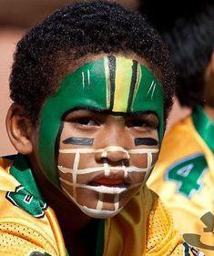 tackling football helmet face paint
